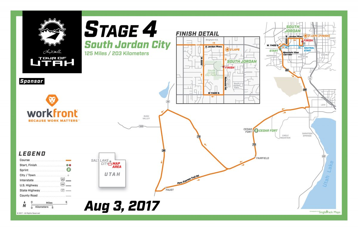 Tour of Utah E4 Route